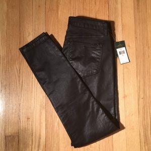 Ralph Lauren NWT Lauren jeans coated black size 10